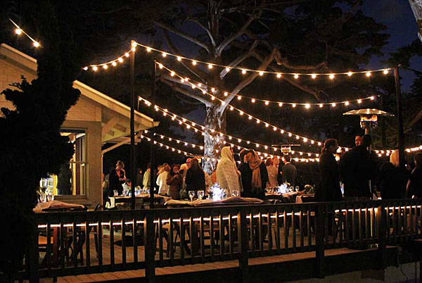 Cafe String Lights Outdoor Give Social Gatherings A