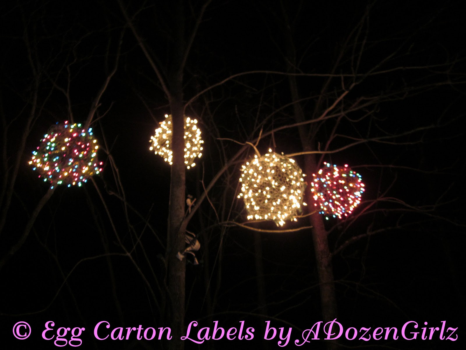 Christmas light balls outdoors warisan lighting