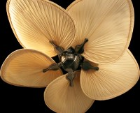 Exotic ceiling fans - Bring a tropical feeling into your ...