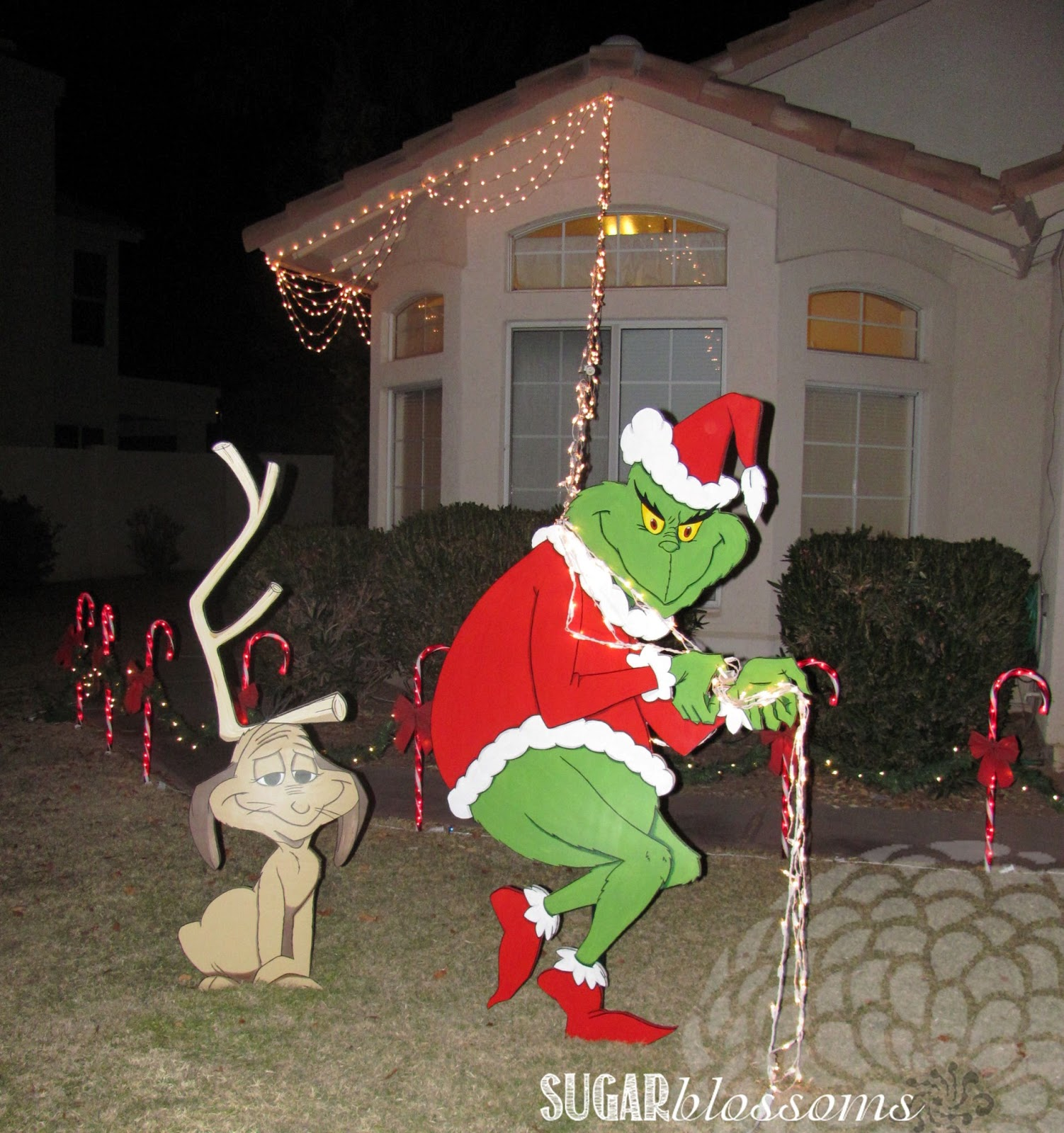 Grinch christmas lights outdoor photo 8