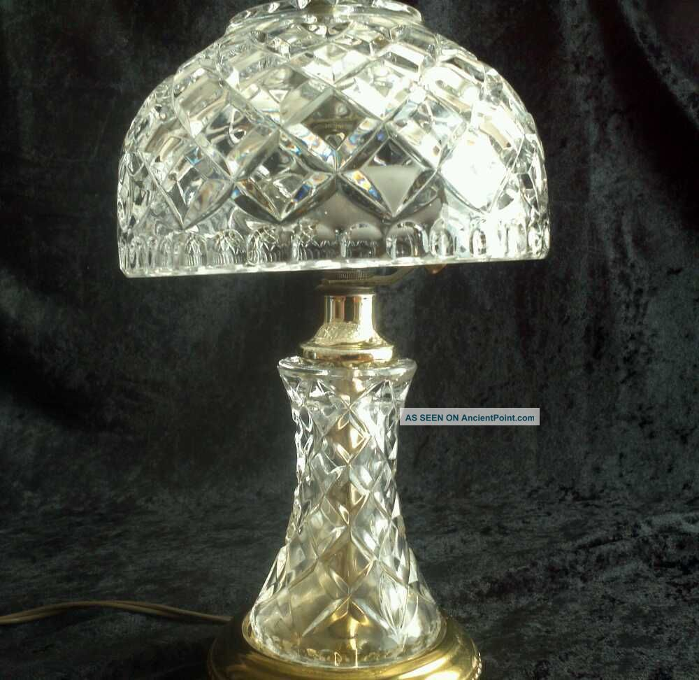 Antique crystal table lamp -  Antique Crystal Table Lamps Lead Crystal Lamps Photo 1 Download