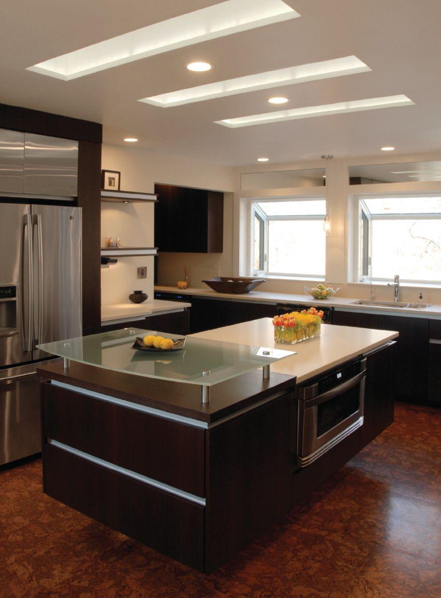 Modern kitchen ceiling lights photo 2