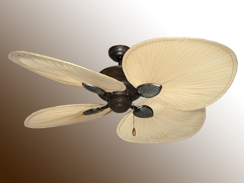 Palm frond ceiling fan