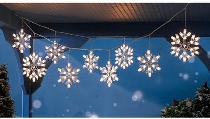 Snowflake outdoor christmas lights democraciaejustica led ropelight crystal snowflake commercial christmas aloadofball Choice Image