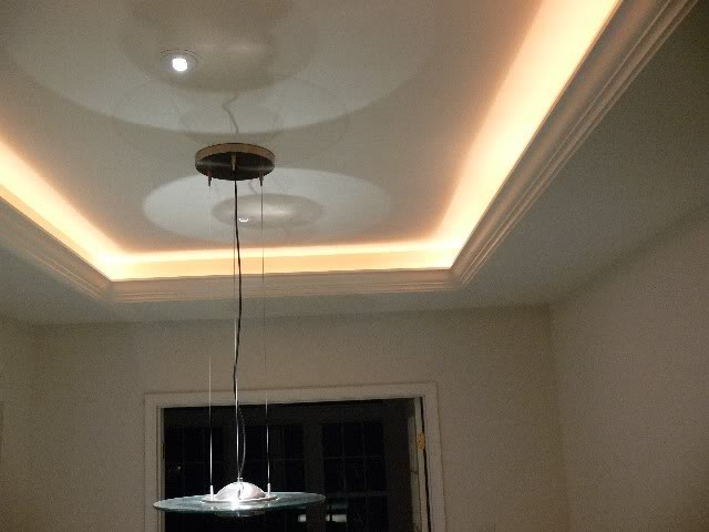 Tray ceiling lights