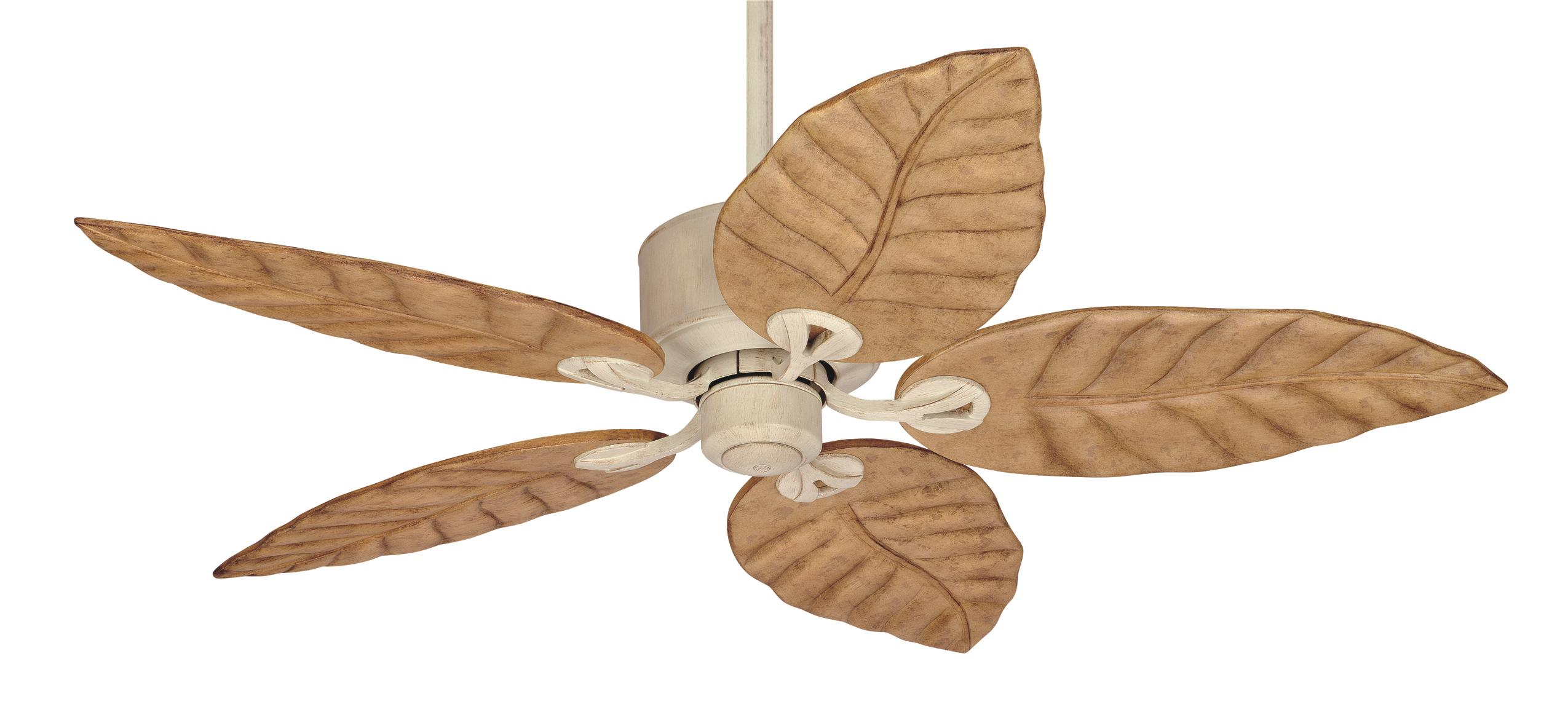 Tropical leaf ceiling fan
