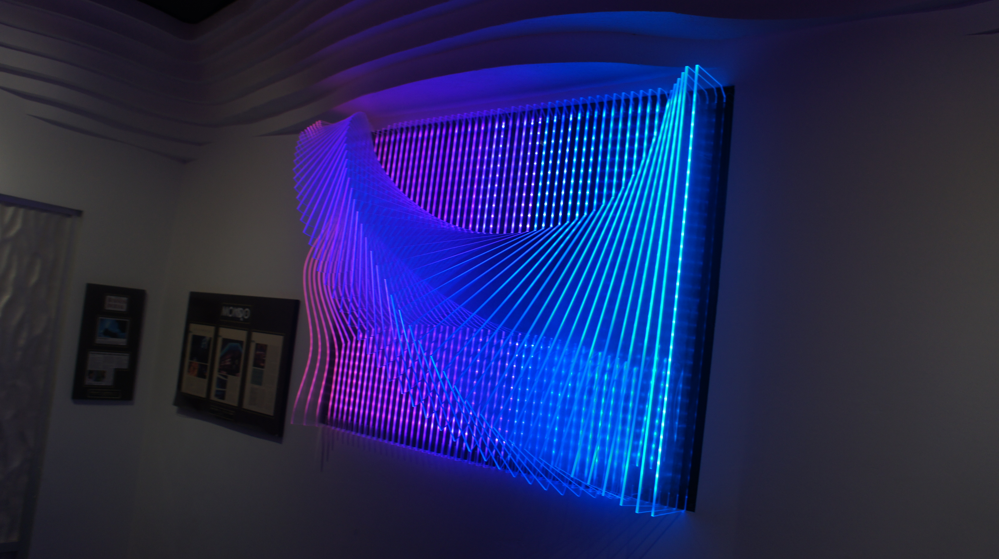 3d Dekoration Led Wall Art With Led Lights The Art Of The Future Warisan