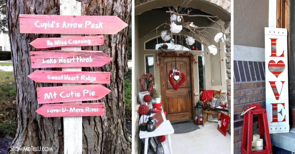 Farmhouse Porch Best 24 Outdoor Valentine's Day Decor Ideas For 2019