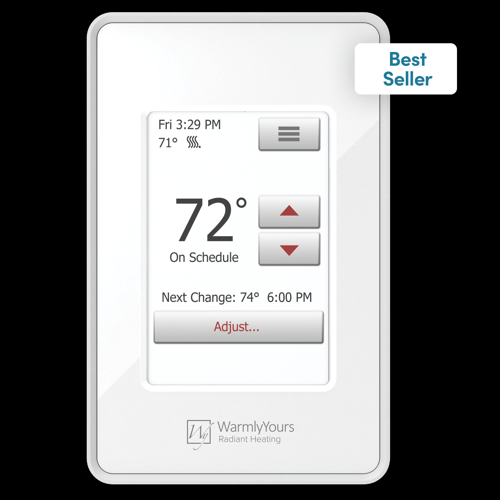 Heating Thermostat Nspire Touch Programmable Thermostat White