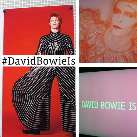 Photo collage from #DavidBowieIs exhibit, Chicago.