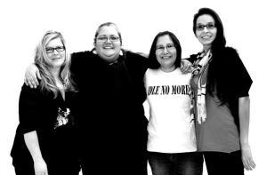 The 4 founders of INM: L to R: Sheelah McLean, Nina Wilson, Sylvia McAdam and Jess Gordon.