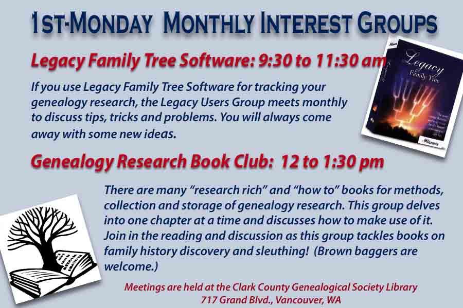 Clark County Genealogical Society « Washington State Genealogical