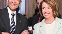 John Podesta and Speaker Nancy Pelosi. Photo by Tony Powell