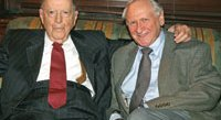 Herman Wouk and Bill Safire at the Library of Congress dinner honoring Wouk with a lifetime achievement award.