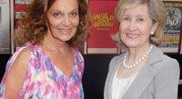 Diane von Furstenberg and Senator Kay Bailey Hutchinson. Photo by Kyle Samperton