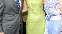 George Stephanopoulos, Capricia Marshall, and Beth Dozoretz