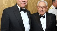 Colin Powell and Henry Kissinger