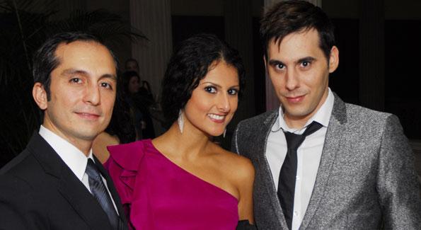 Amir Afkhami, Hastie Kargar, Chris Boutlier. Photograph by Kyle Samperton