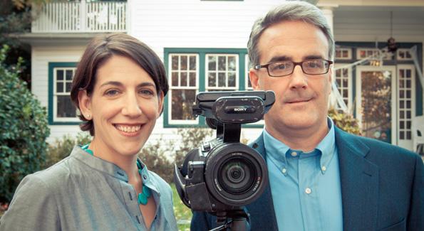 Abby Greensfelder and Sean Gallagher. (Photo by Anchyi Wei)