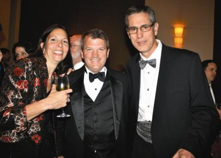 CQ_Rollcall Group executives Laurie Battaglia Keith White and Mike Mills at the Washington Press Foundation Dinner (Photo by Kyle Samperton)