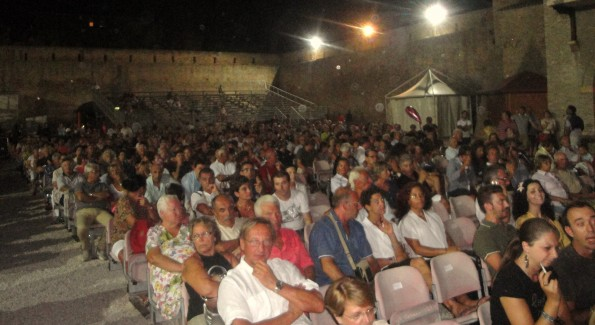 Over 1,000 Italians came out on a warm summer evening to hear the band play. Courtesy Photo.