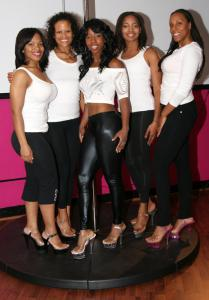 Center: Michaela Brown and The P Spot girls