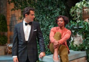 Todd Gearhart as Linus and Susan Heyward as Sabrina in the Ford's Theatre production of Samuel A. Taylor's Sabrina Fair, directed by Stephen Rayne. Photo by T. Charles Erickson.