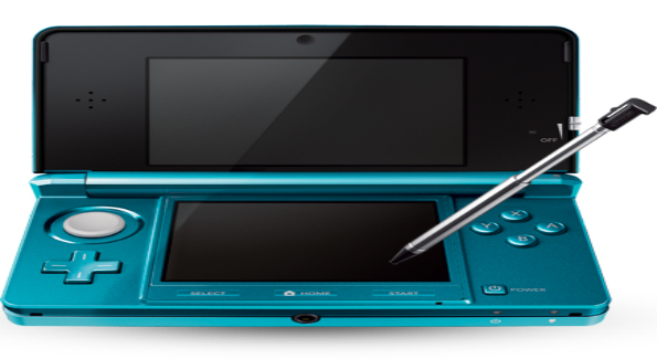 On March 27, Nintendo introduces portable entertainment in 3D - without the need for special glasses. Nintendo 3DS™ system in Aqua Blue. Photo Courtesy of Nintendo.com.