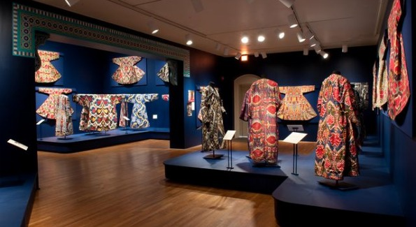 Colors of the Oasis: Central Asian Ikats on display through March 13th. Image courtesy of The Textile Museum.