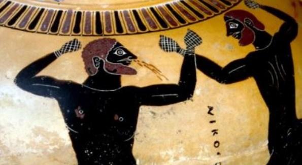 Greek boxers - 520-510 B.C.E.  © The Trustees of the BritishMuseum
