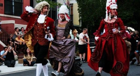 L'Enfant hosts its annual French Maid Relay Race and after party, where traditional french garb is a must.