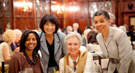 From Left: Professor Dana Williams, chairman of English Dept. at Howard University; Kay Enokido, president of The Hay-Adams; Professor Victoria Arana-Robinson, English Dept. at Howard University; Dr. Carolyn Brown, Director of The John W. Kluge Center, Library of Congress