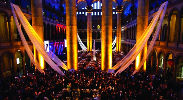 The National Building Museum transformed for the Honor Awards in 2010. Photo by Paul Morigi.