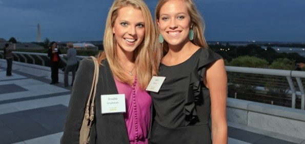 Brooke Grisebaum and Sara Bailey at the Children's Law Center 15th Anniversary Gala. Photo by Alfredo Flores.