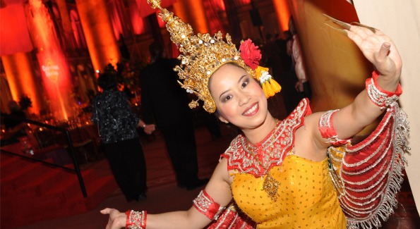 Traditional Thai Dancer performing at CharityWorks' Night in Shangri-La. Photo by Ben Droz.