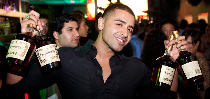 Jay Sean enjoys some Hennessy in the VIP Section of Eden