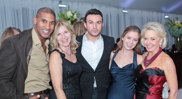 Richard Carvalho, Sue Cudmore, Michael Woestehoff, Sophie Pyle, Ambassador to Barbados Mary Ourisman. The 43rd Annual Meridian Ball. Meridian International Center. October 14, 2011. Photo by Alfredo Flores.