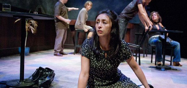 "Natascia Diaz plays the desperate Denise Savage in MetroStage's ""Savage in Limbo"""
