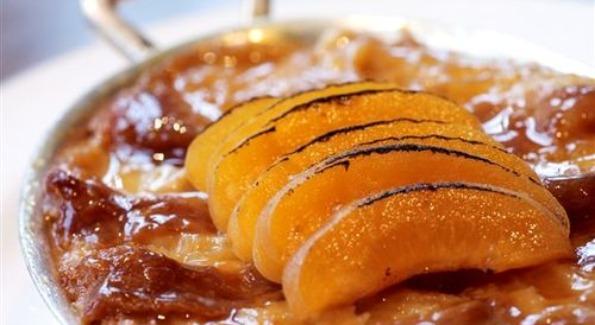 "Blue Duck Tavern's ""Apricot Toffee Caramel Bread"". Photo courteousy of blueducktavernblog.com"