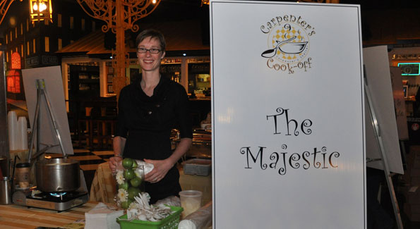 Melissa Horst of the Eat Good Food group is one of many chefs who participate in the Carpenter's Shelter annual Carpenter's Cook-off. Photo courtesy of Danielle Swanson.