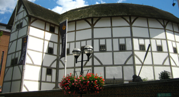 A reconstruction of the theatre where William Shakespeare's playing company was based. (Photo: Kieran Lynam)