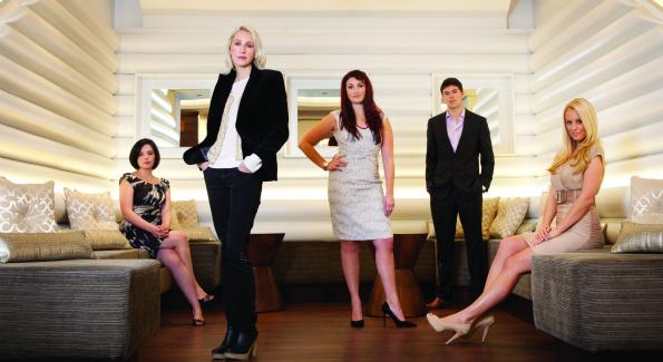 Stephanie Valencia, Holly Thomas, Nicole Brener-Schmitz, Alex Skatell and Britt McHenry. (Photo: Dustin C. Lilley, DCL Imagery)
