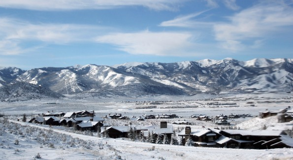 The Wasatch Mountain Range of Utah, with Park City and the Sundance Labs in the distance. (Photo by John Arundel)