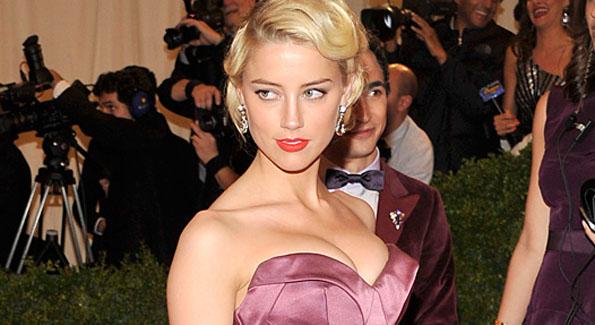 Amber Heard at the Met Gala 2012 (AP Photo by Charles Sykes)
