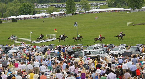 The featured race, the $75,000 Virginia Gold Cup, held all the day's excitement. (Photo by John Arundel)