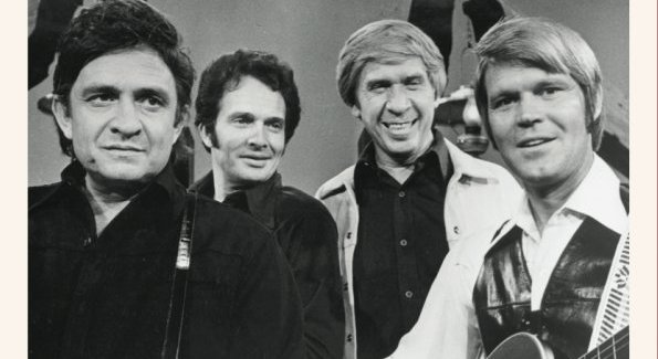 Johnny Cash, Merle Haggard, Buck Owens, and Glen Campbell.