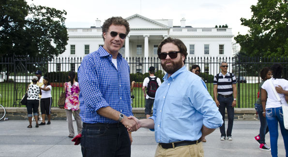 "Will Ferrell and Zach Galifianakis in town for their new film ""The Campaign."" (Photo by Kris Connor)"