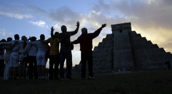 Twitter is abuzz with end of the world jokes, thanks to the Mayans' prediction that December 21, 2012 would mark the end of the world. (AP Photo/ Israel Leal)