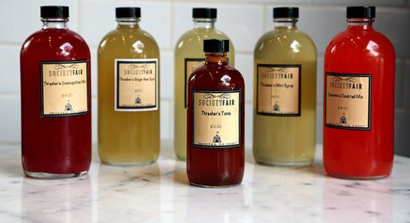 Todd Thrasher's kit of house made cocktail mixes is a perfect holiday gift for the cocktail lover in your life. Photo courtesy Society Fair.