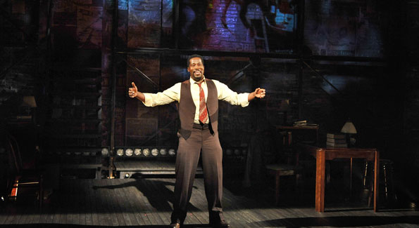 Daniel Beaty as Paul Robeson in Tectonic Theater Project's The Tallest Tree in the Forest. (Photo by Don Ipock)